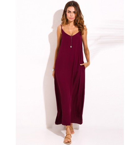 XS-5XL Femmes Boho Sexy Strap Backless V Cou Maxi Sundress