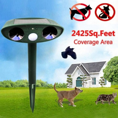 Loskii HG-GA5 GreatHouse Ultrasonic Solar Power Cat Dog Repeller Outdoor Garden Animal Scarer