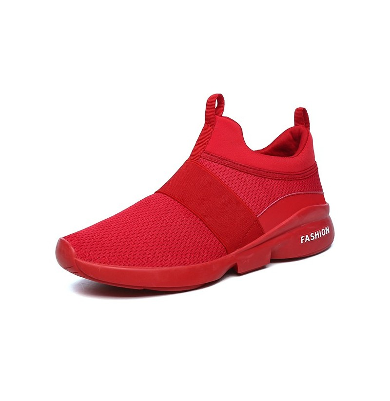 Men Comfy Ankle Cushion Slip On Sports Sneakers (Color: Red, Size(US): 11) фото