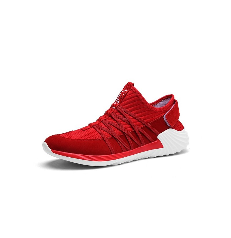 Men Casual Breathable Mesh Sports Sneakers (Color: Red, Size(US): 9) фото