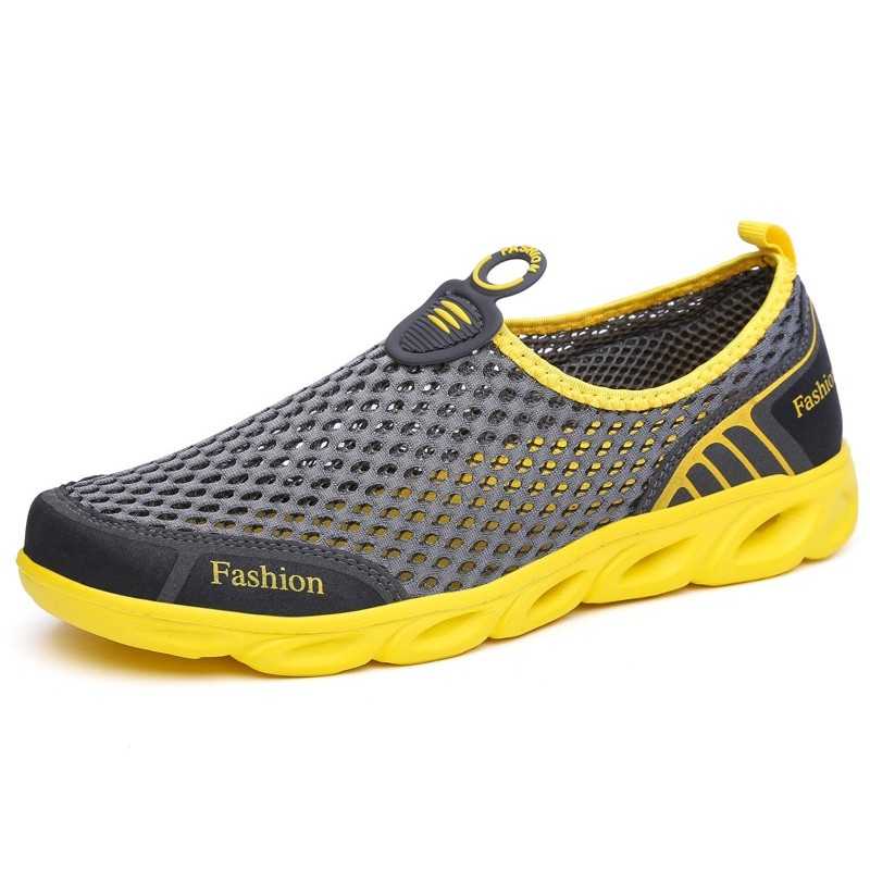 Men Comfy Breathable Mesh Sneakers Sports Shoes (Color: Dark Grey, Size(US): 9) фото