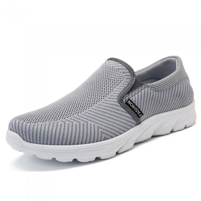 305b5adc2b58 Men Casual Sports Shoes Breathable Mesh Slip On Sneakers