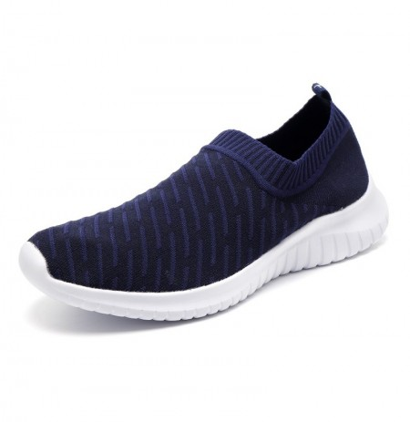 Men Casual Sports Shoes Breathable Knitted Slip On Sneakers