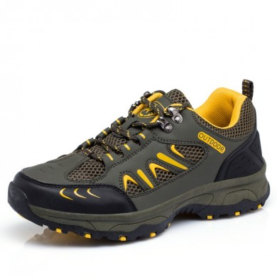 Men Outdoor Hiking Slip Resistant Sneakers