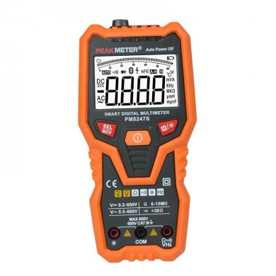 Intelligent Digital Multimeter Voltmeter Auto Range Professional Ammeter NCV Frequency