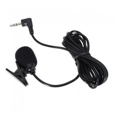 2X3.5mm Hands Free Clip On Mini Microphone For PC Laptop MSN