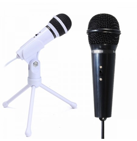 3.5mm Condenser Microphone Mic Recording Stand For PC Laptop Desktop Skype