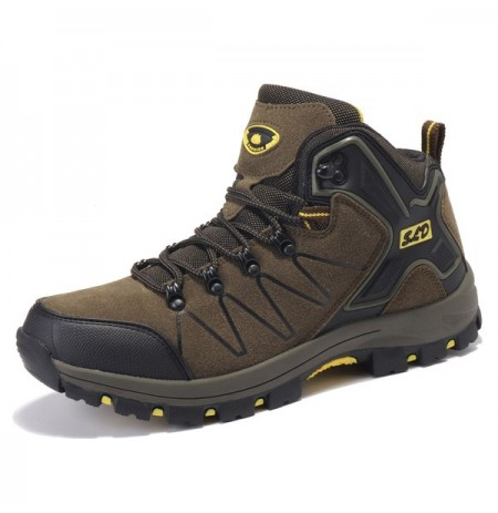 Men Comfy Outdoor Hiking High Top Athletic Shoes