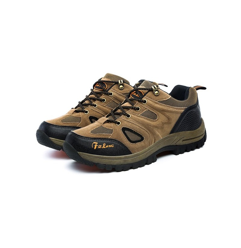 Big Size Men Sport Shoes Outdoor Running Mountaineering Shoes Casual Comfortable Shoes (Color: Khaki, Size(US): 12) фото