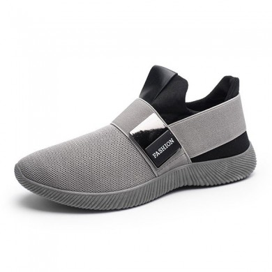 Hommes Confortable Elastic Bande Slip On Casual Athlétique Chaussures