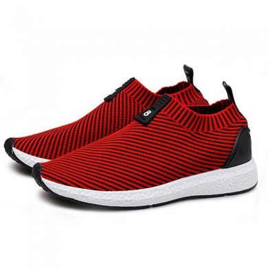 Hommes Tricoté Farbic Shock Absorption Casual Athletic Shoes