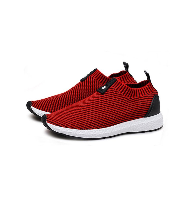 Men Knitted Farbic Shock Absorption Casual Athletic Shoes (Color: Gray, Size(US): 8) фото