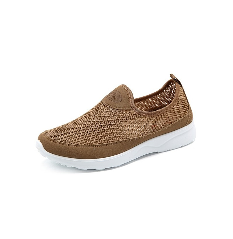 Men Breathable Hollow Out Soft Sole Flats (Color: Brown, Size(US): 10) фото