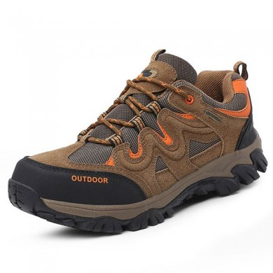Big Size Hommes Confortable Wear Resistant Outsole Outdoor Hiking Athletic Shoes