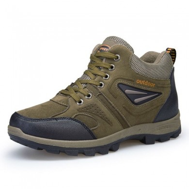 Outdoor Climbing Lace Up Warm High-top Shoes para homens