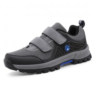 Homens malha respirável Gancho Loop Outdoor Athletic Shoes