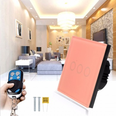 1 Gang/2 Gang/3 Gang Light Switch Wall Switch Remote Control Touch Switch AC110V-240V