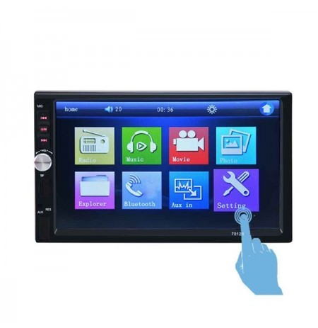 2 Din 7 Inch HD Touch Screen Bluetooth Car Radio Stereo Head MP5 MP3 USB AUX FM