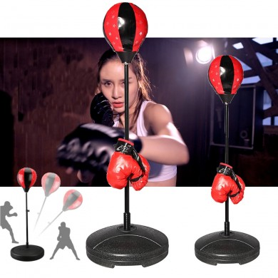 Desk Boxing Sand Bag Adjustable Standing Speed Ball Boxing Target Stress Release Exercise Equipment