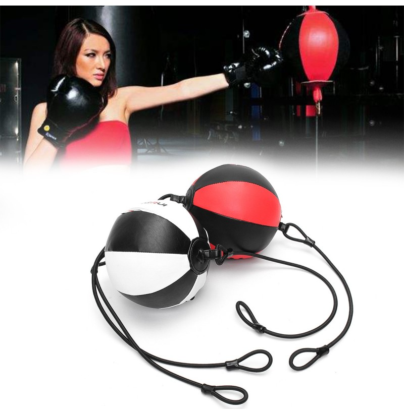 Boxing Speed Ball Punching Ball Double End Boxing Bags Training Ball Boxing Equipment (Color: Red) фото
