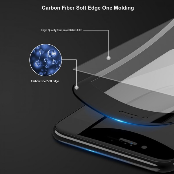 Bakeey 3D Soft Edge Carbon Fiber Tempered Glass Film For iPhone 8