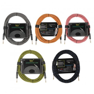 IRIN 6 Meter Durable Guitar Cable for Electric Guitar Amplifier 6.35mm Cable Cord