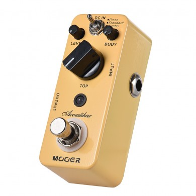 MOOER MAC1 Acoustikar Acoustic Guitar Effects Pedal with 3 Working Modes Piezo/Standard/Jumbo