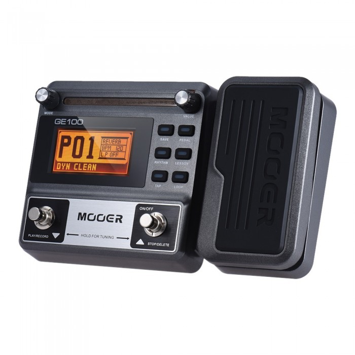 MOOER GE100 Multifunction Guitar Effects Pedal with 180 Seconds Loop Recording 60 Effect Types LCD Display