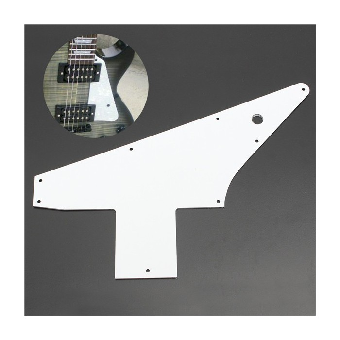 GIBSON® TAKEN FROM THE USA 2011 MODELL PICKGUARD EXPLORER®  WHITE 3PLY WBW PG f