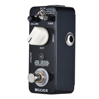 MOOER MMD1 Blade Distortion Guitar Effects Pedal with 3 Working Modes Lo Boost/Boost Off/Hi Boost