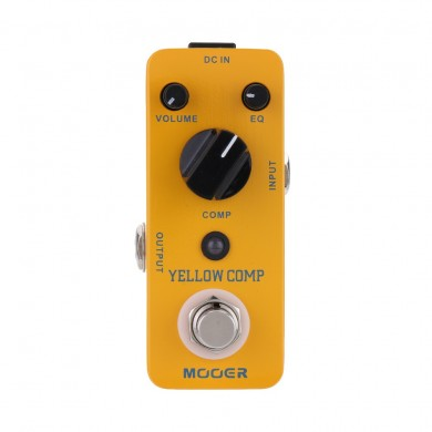 MOOER MCS2 Yellow Comp Micro Mini Optical Compressor Guitar Effects Pedal for Electric Guitar True Bypass