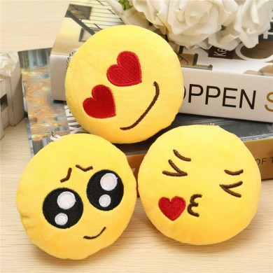 4inch 10cm Smiley Emoticon Round Emoji Ornament Stuffed Plush Soft Toy Pendant