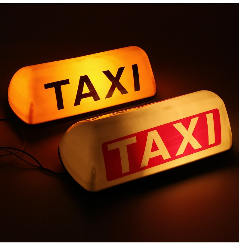 Waterproof Taxi Roof Top Sign Light Magnetic Taximeter Cab