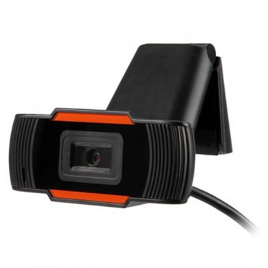 HD Webcam Adjustable Angle Rotatable Web PC Camera with Built-in Microphone