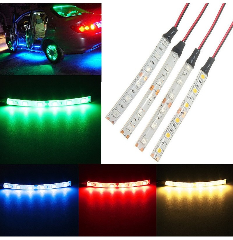 DC12V 5050 LED Strip Light For Car Caravan White Blue Red Green Waterproof (Color: Warm White) фото