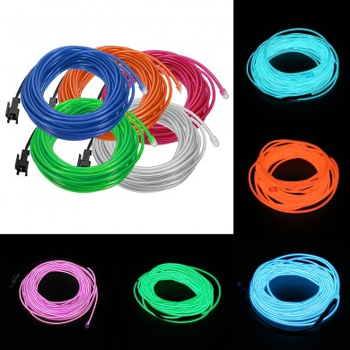 1-5m Flexible Neon Light Glow EL Wire Rope Cable Strip for Car Decor Party Clothing