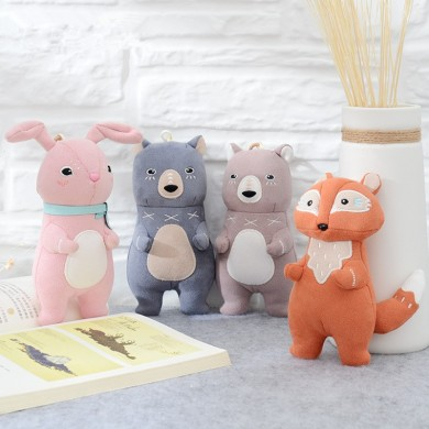 Metoo Forest Musketeers Animals Fox New Accessories Plush Toys Doll Pendant Holiday Birthday Gift