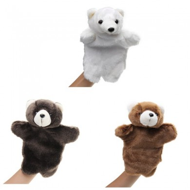 27CM Stuffed Animal Bear Fairy Tale Hand Puppet Classic Children Figure Toys Plush