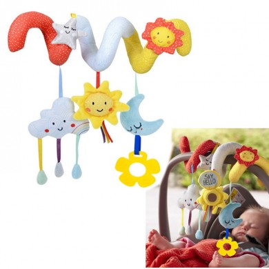 Soft Animal Hanging Bed Safety Seat Plush Doll Mobiles Puppet Baby Bed Cute Toy