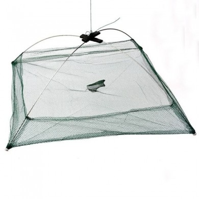 Fishing Foldable Mesh Baits Trap Umbrella Cast Dip Net Crab Shrimp