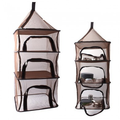 Outdoor Fishing Hanging 4 Layer Storage Basket  Hanging Drying Tableware Food Dry Net