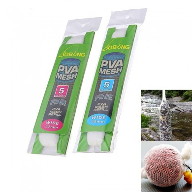 Bobing PVA Fishing Mesh 25MM 37MM Micromesh For PVA Tubes Systems White Net