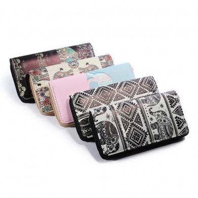 National Style Elephant Purse Clutch Bag Phone Wallet