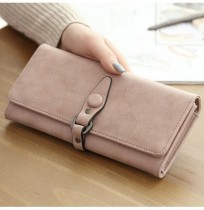 Women Hasp Long Wallets Retro 3 Folded Purse Card Holder Coin Bags 5.5'' Phone Bags For Iphone 7P