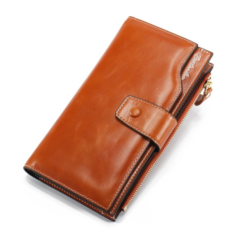 Brenice Fashion Casual Life Wallet With Lightweight Wearable Wallet Large Capacity (Color: Brown) фото