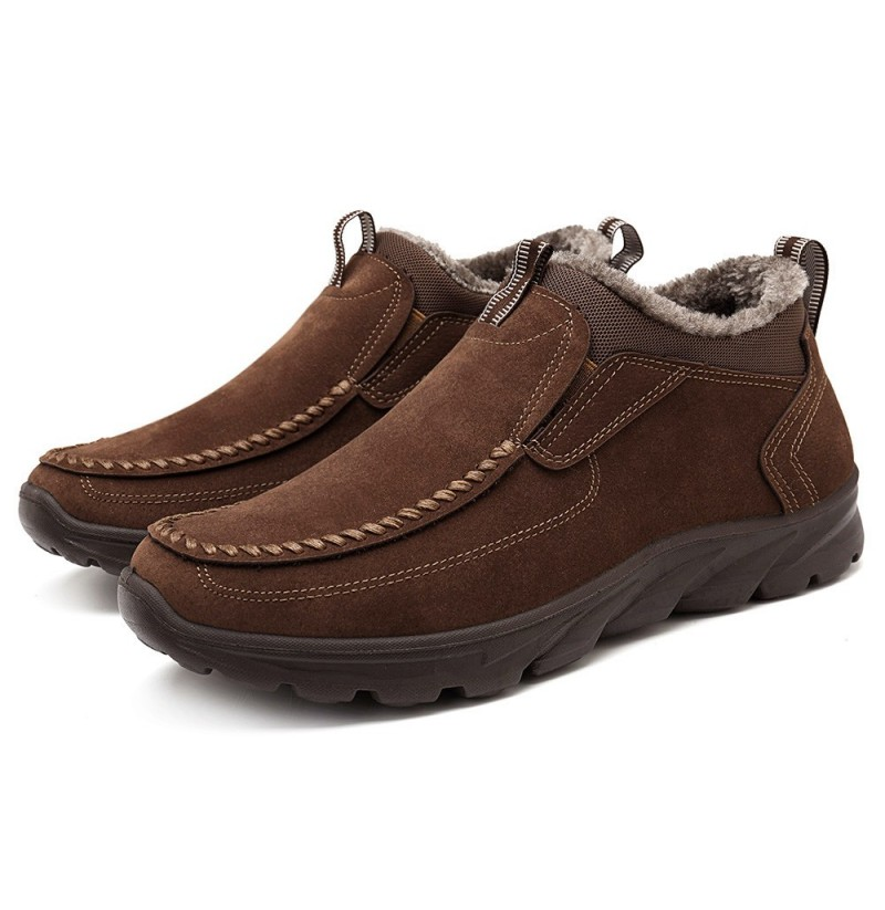 Menico Big Size Warm Stitching Boots (Color: Coffee, Size(US): 10.5) фото