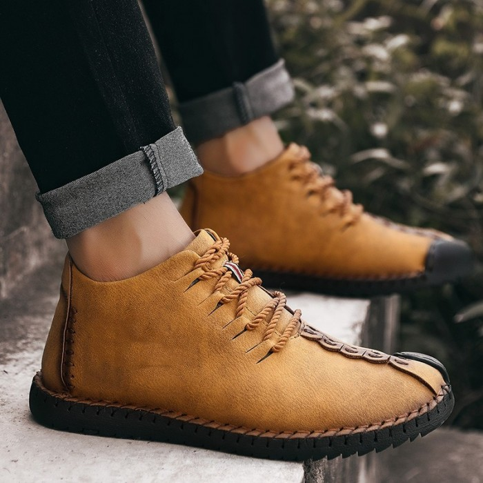 Size Comfortable Stitching Ankle Boots