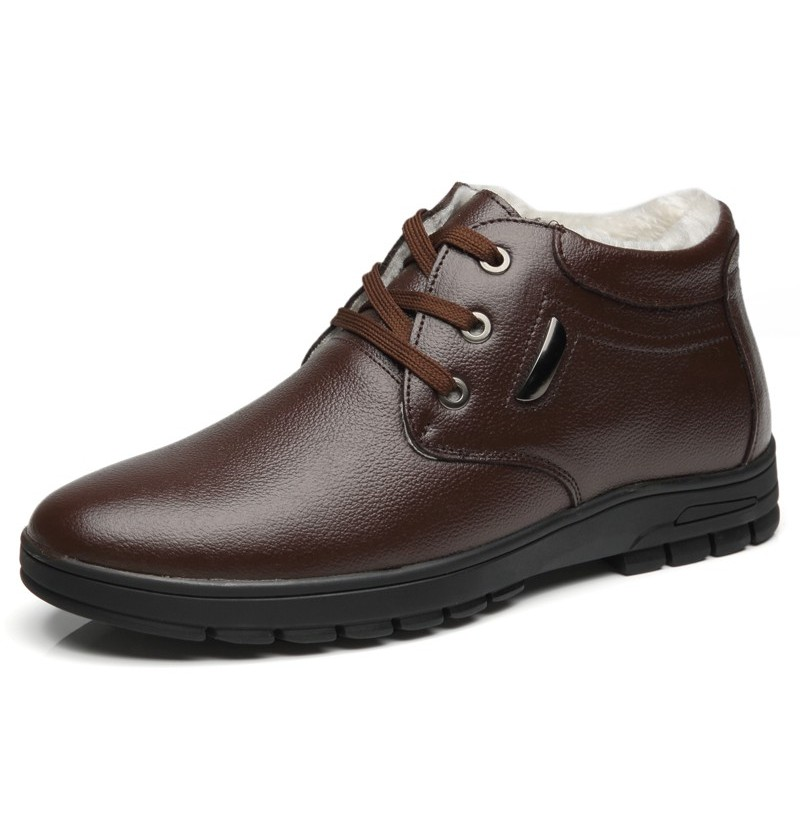 Men Casual Daily Ankle Boots (Color: Brown, Size(US): 9) фото