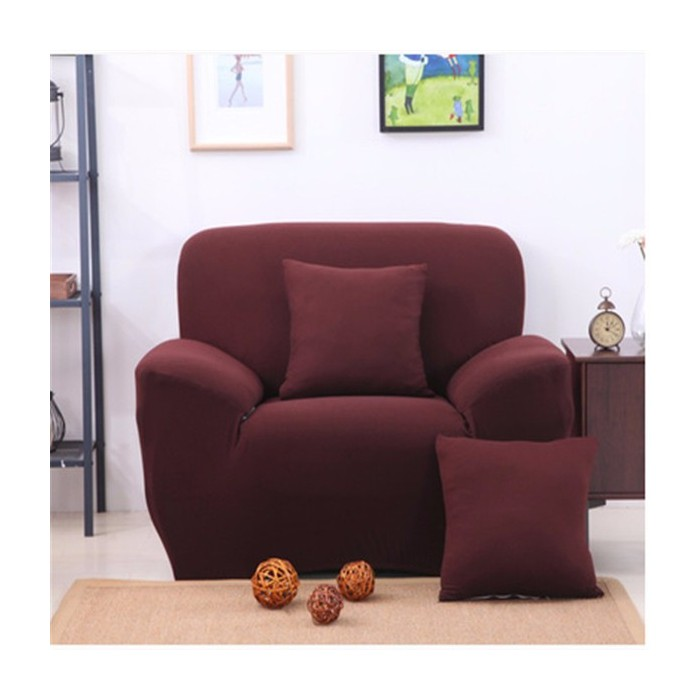 Two Seater Solid Colors Textile Spandex Strench Elastic Sofa Couch Cover Furniture Protector