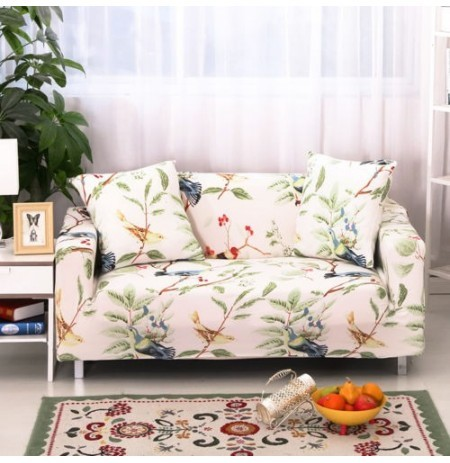 Two Three Seat Textile Spandex Strench Flexible Printed Elastic Sofa Couch Cover Furniture Protector